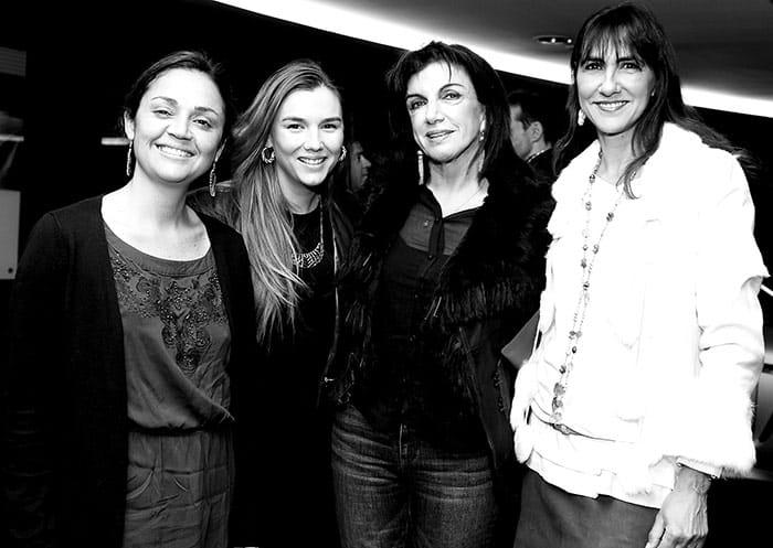 Claudia González, Paula Treknais, Miriam Lama y Paulina Diaz